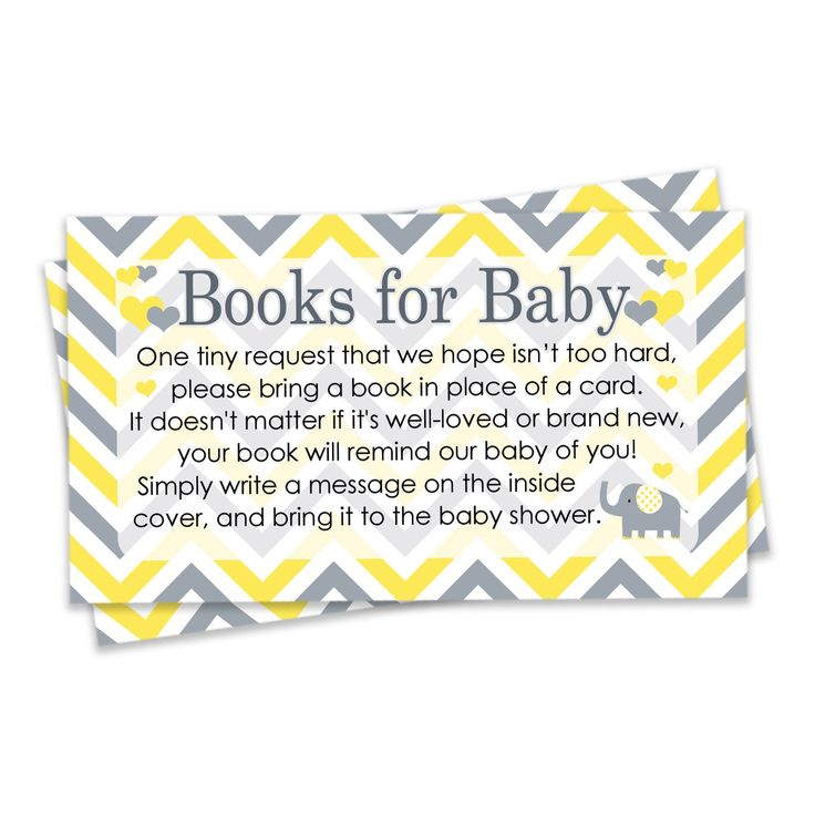 Yellow and Gray Elephant Books for Baby Cards (Set of 20)