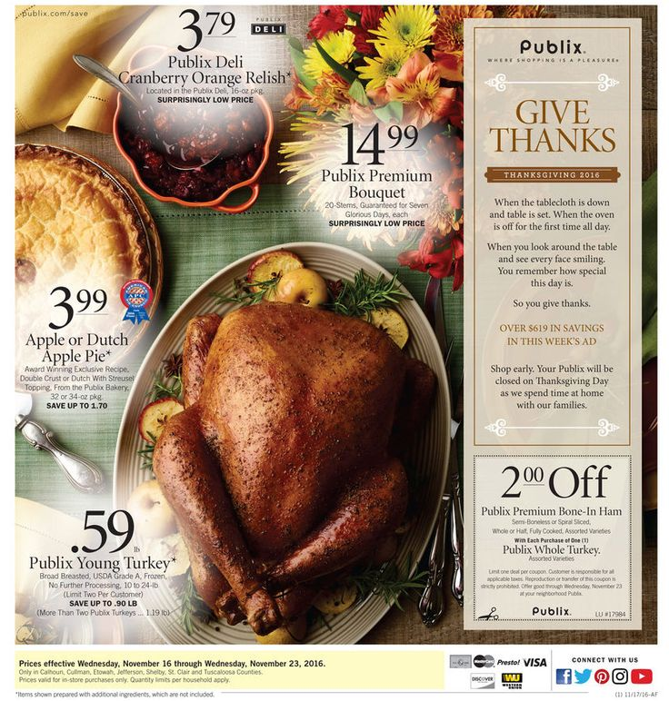 Publix Weekly Ad November 16 - 22, 2016 - http://www.olcatalog.com/grocery/publix-weekly-ad.html