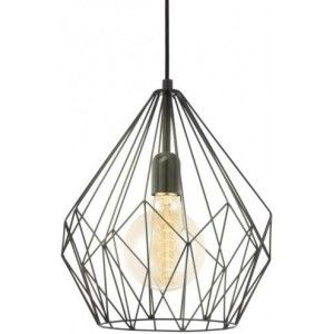 Gezien op Beslist.be: Eglo Carlton hanglamp (Kleur: zwart)