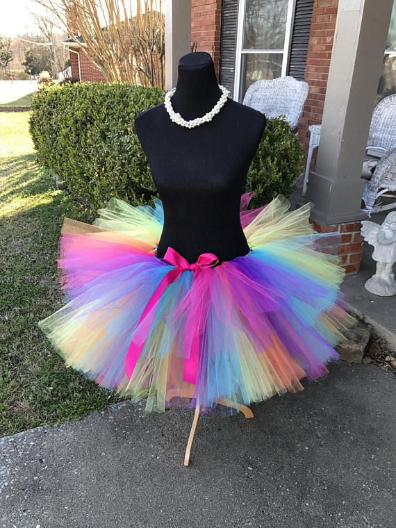 Adult Rainbow Glitz Tutu Adult Tutus Adult Rainbow Tutu Roller
