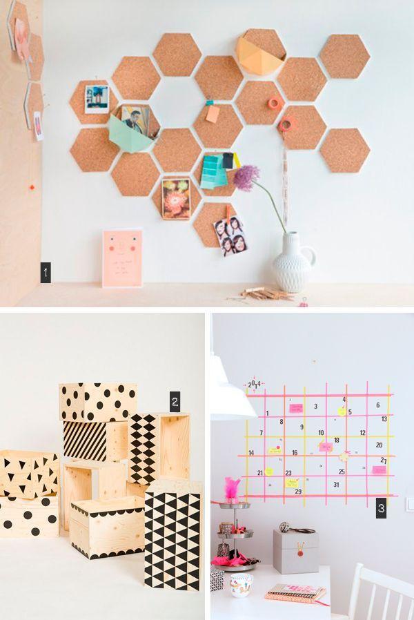 Ideas para organizar tu oficina. Ideas para decorar tu oficina DIY. Manualidades.
