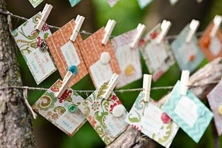 Shabby Chic Wedding Placecards 2