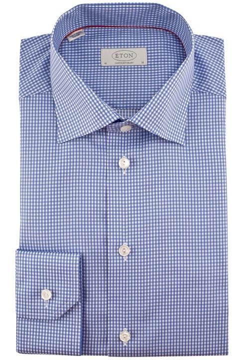 Blårutet skjorte fra Eton STRYKEFRI skjorter. Gjerne lyseblå. Ikke nødvendigvis den som er avbildet. Vet de har noen ålreite strykefrie på VIC