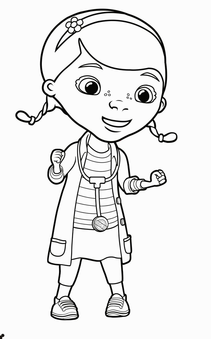 Doc mcstuffins coloring pages to color online - Doc Mcstuffins Coloring Sheet