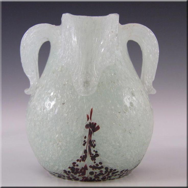 Beranek/Skrdlovice 1940's Czech Pulegoso Glass Vase - £71.99