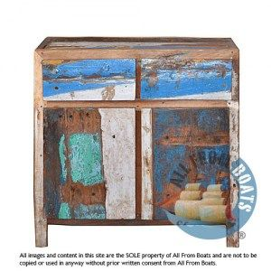 2 doors sideboard tiley, recycled old boat wood