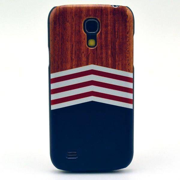 Wood & chevron hoesje voor Samsung Galaxy S4 mini