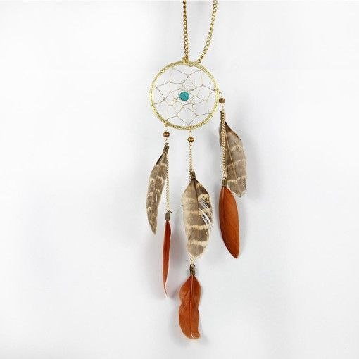 Dream in Turquoise and Feathers Necklace #Colorize #ColorizeFashion