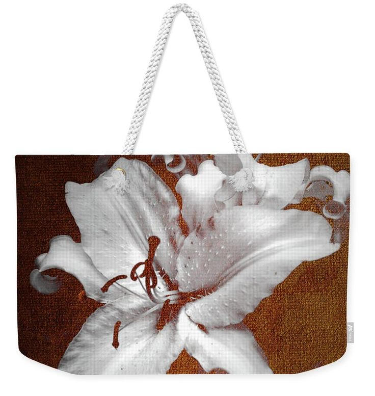 Jenny Rainbow Fine Art Photography Weekender Tote Bag featuring the photograph Vintage White Lilies by Jenny Rainbow