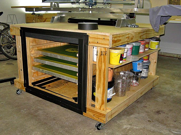 Table for table-top screen printing press - T-Shirt Forums
