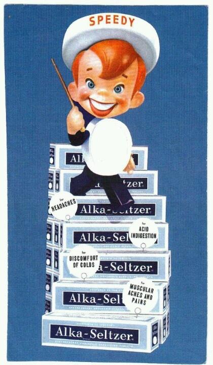 Speedy Alka Seltzer - Vintage Advertising Program Mascot