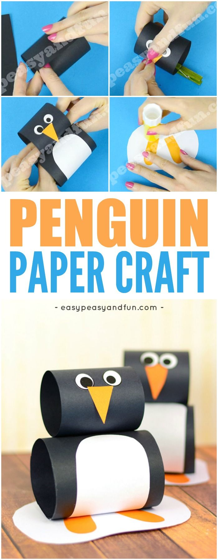 Cute Paper Penguin Craft For Kids Fun And Simple Winter Idea To