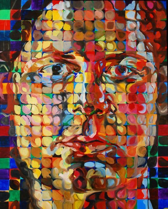 Chuck Close-This man's brain works like a computer. His portraits are unparalleled. And if you think he uses software, you're wrong. He eschews virtually all time saving tricks/devices.