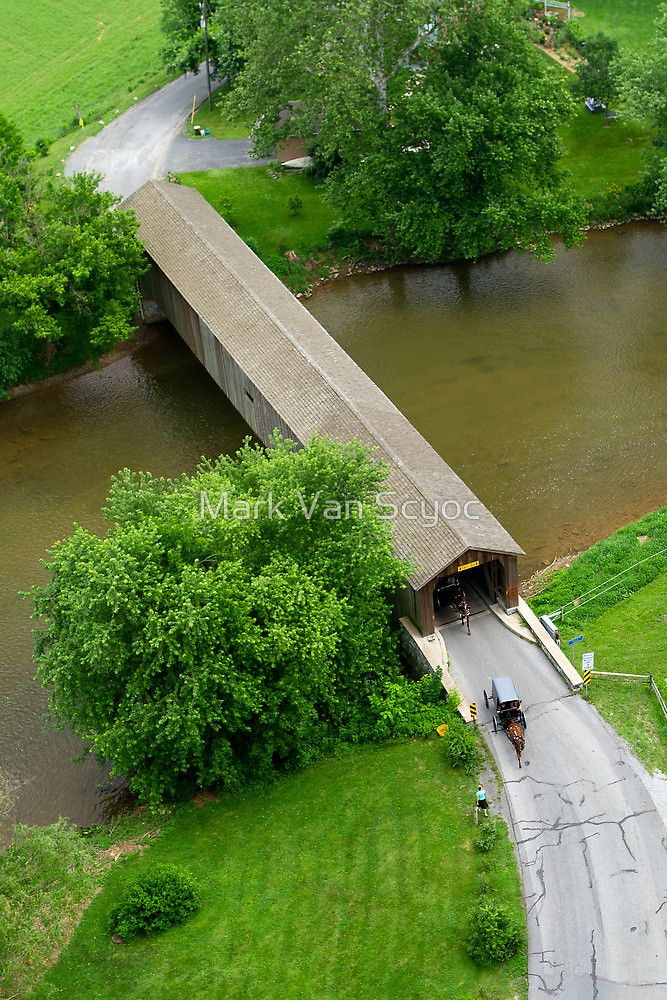Hunsecker's Mill #Covered #Bridge - Horse and Buggies by Mark Van Scyoc http://dennisharper.lnf.com/