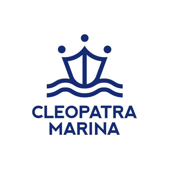 Logo and corporate identity for Cleopatra Marina in Actium.