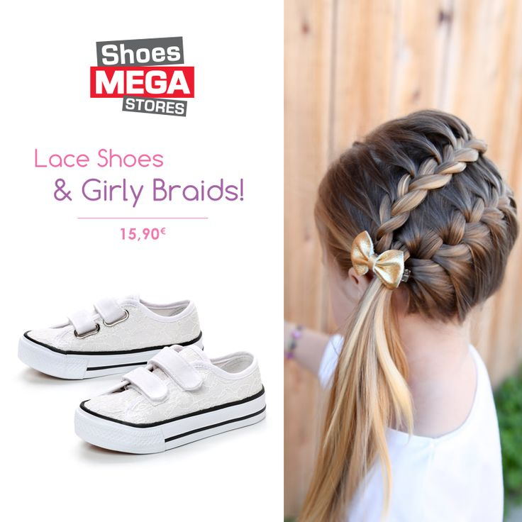 Το τέλειο λευκό sneaker για όμορφες μικρές κυρίες! #shoesmegastores #girls #sneakers