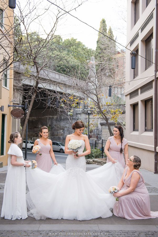 Pale pink Bridesmaids dresses. Top colours bridesmaid dresses. Liliac bridesmaid dress.  ~Sydney wedding photography by Yulia Photography~ www.yuliaphotography.com.au
