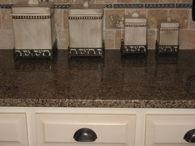 17 Best ideas about Brown Granite on Pinterest   Cream kitchen cabinets,  Traditional kitchens and Dark granite