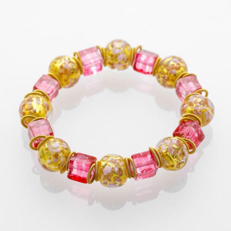 Fortuna Bracelet - Venetian Murano Glass Jewellery for Australia - www.italianheart.com.au