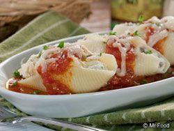 Lasagna Stuffed Shells - Now's your chance to really show off your cooking skills with this Italian dinner.