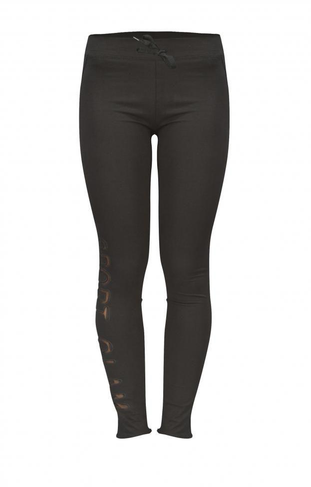 Γυναικείο παντελόνι φόρμας sport glam   Γυναίκα - Φόρμες   Metal Μαύρο