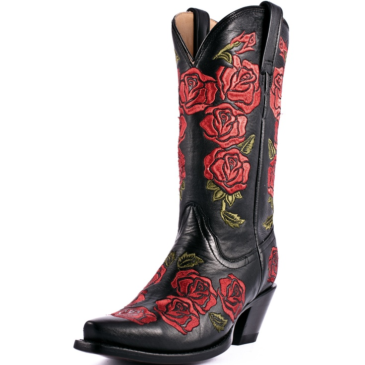 Corral Red Roses Cowboy Boots|