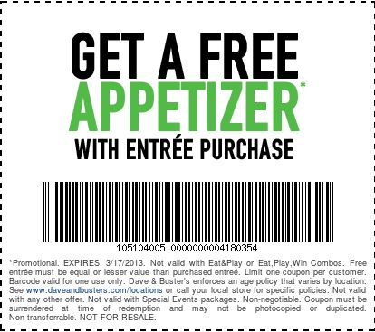 Dave and busters coupons $20