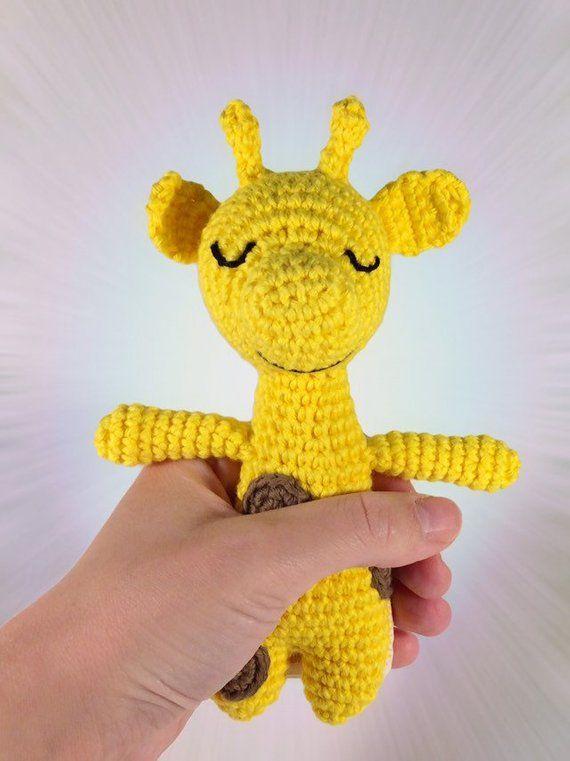 Baby Rattle Giraffe Lovingly Crocheted Muñecas Pinterest Baby