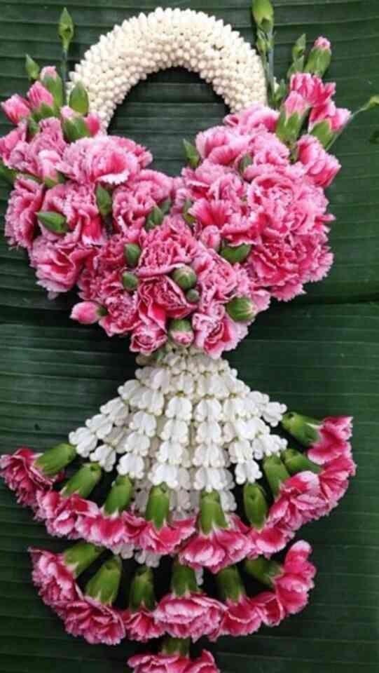 Thai garland with carnations flower.
