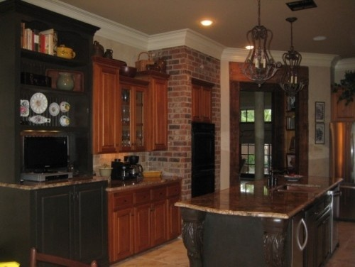 New Orleans Kitchen Design I LOVE LOVE LOVE This! The Exposed Brick, The  Brown