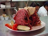 El sandwich del Carnegie Deli