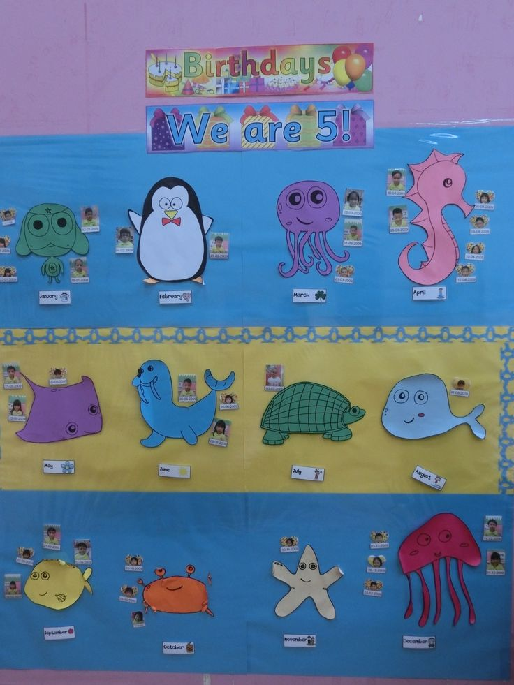 Sea Animals Birthday Chart Classroom Deco Pinterest