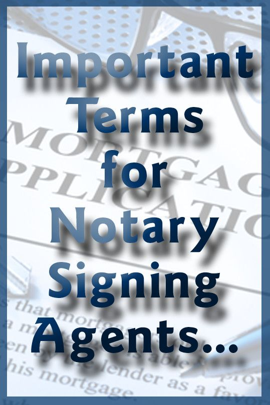Terms for Notary Signing Agents  www.faithnotary.com