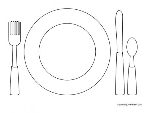 Favorite Foods Coloring Pages  sc 1 st  Pinterest & 27 best Table Setting for Kids images on Pinterest | Table settings ...