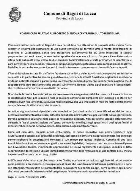 CAPITAN FUTURO: BAGNI DI LUCCA, IL COMUNE DICE DI NO ALLE DIGHE, C...