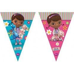 Grinalda de Bandeiras para decoração de festas de aniversário do tema Dra. Brinquedos / Doc McStuffins Flag Banner