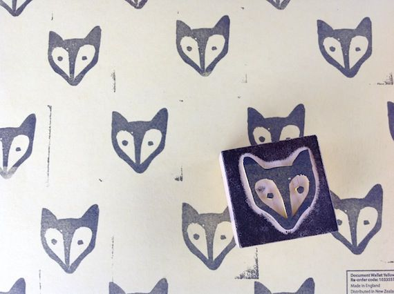 DIY fabric paint stamp craft upcycle fox handmade blog