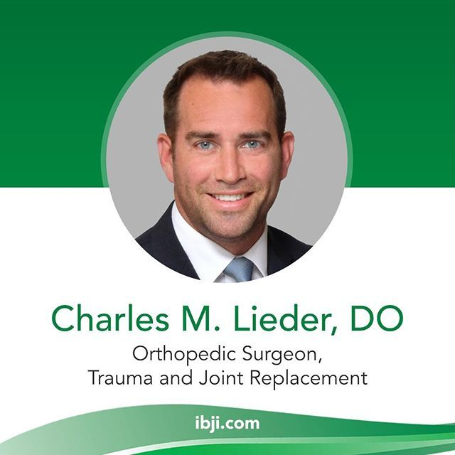 IBJI welcomes Dr  Charles M  Lieder DO! Click the in our bio