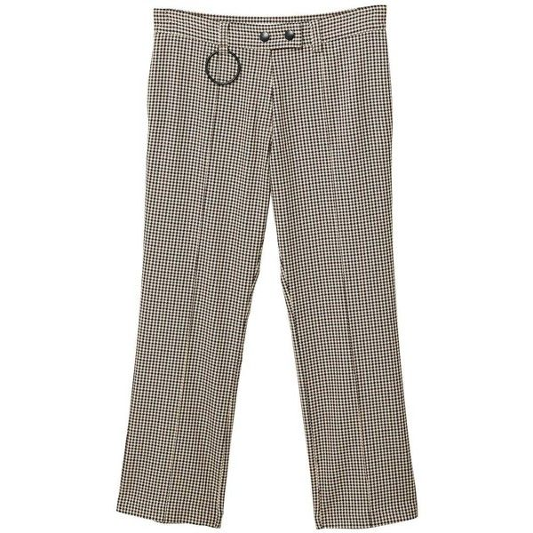 Houndstooth Trousers ($25) ❤ liked on Polyvore featuring pants, brown, zipper trousers, mango trousers, zip pants, zipper pants and houndstooth trousers