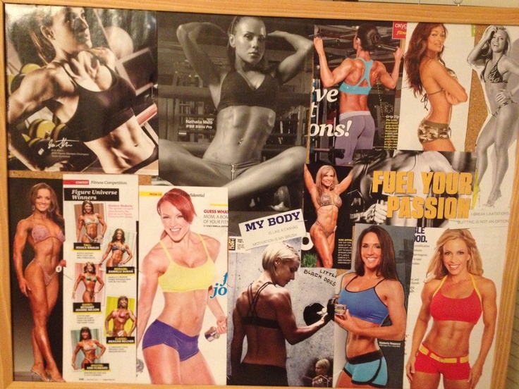 My new vision board to motivate me!