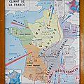 Collection ... carte scolaire climat de la france / côtes de l'atlantique
