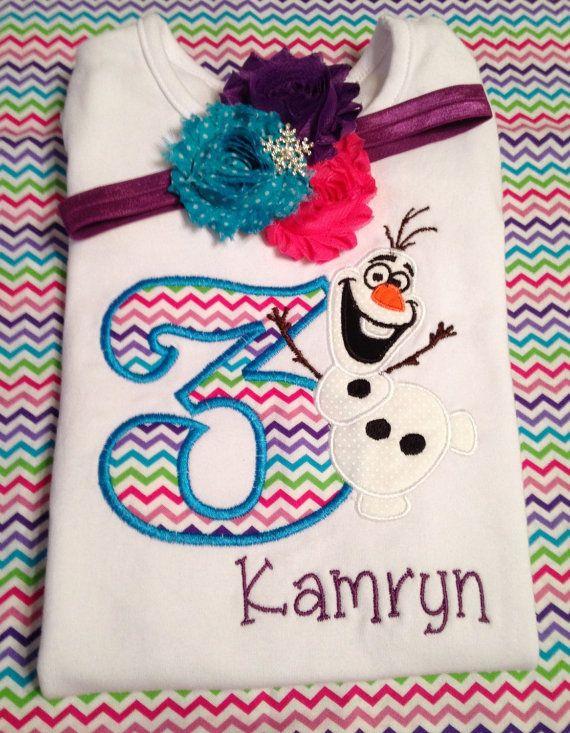 Frozen birthday shirt Olaf birthday shirt by loopsbowtique on Etsy