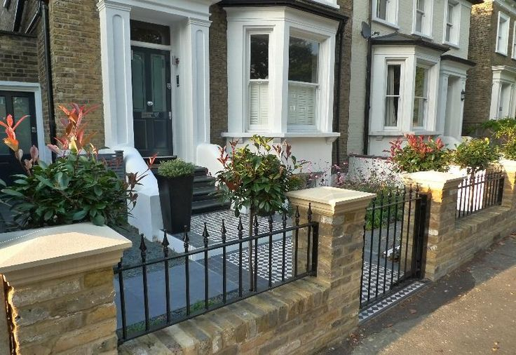 Front Brick Wall With Iron - Google Search | Home, Front Yard