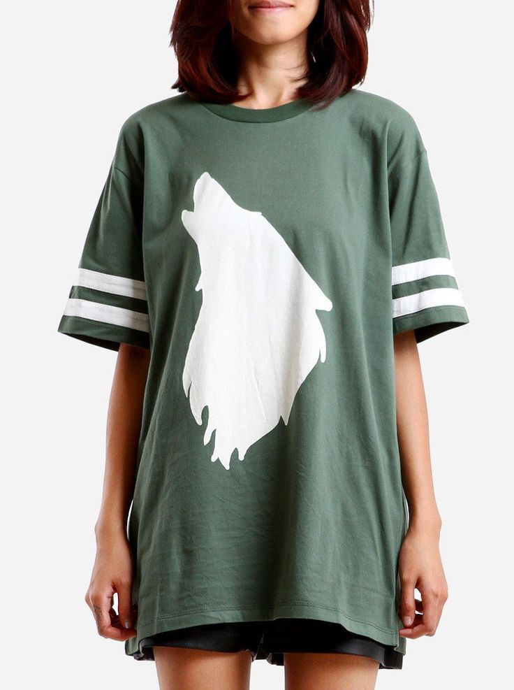 The Holler Boxy Tee comes from Monstore's 2014 Madhaus collection. It is over sized with hand-drawn illustrations, made from cotton, the howling print is manually silk screened onto the shirt. Comfy, casual, and functions as a unisex top.  http://www.zocko.com/z/JG9yj