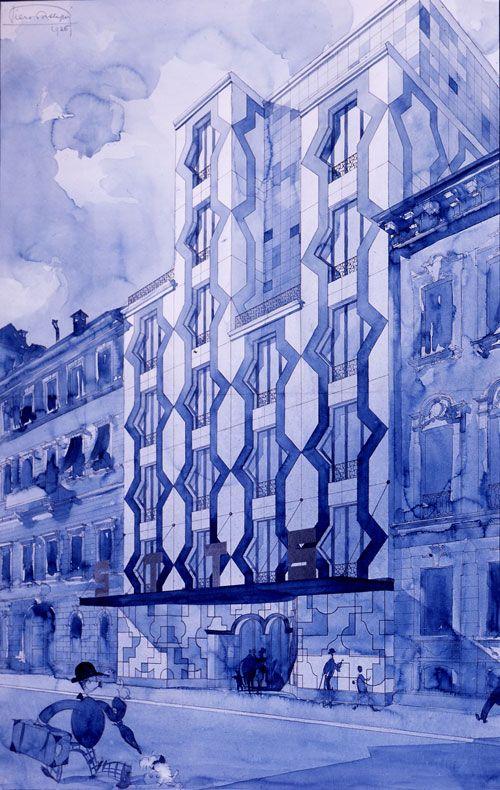 Piero Portaluppi   Progetto per l' edificio STTS, Milano, 1926