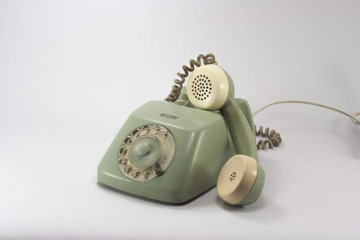 Vintage rotary phone, rotary phone, working rotary phone, desk phone, Vintage telephone, 70's telephone, Fully functional Telephone by yesterdaysgaze on Etsy