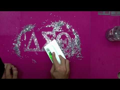 How To Make Custom Rhinestone Sorority And Fraternity Shirts Apparel Decals