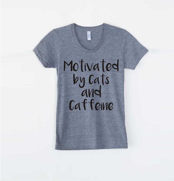 Cat lover gift Funny tshirts inspirational tees Cat by RCTees