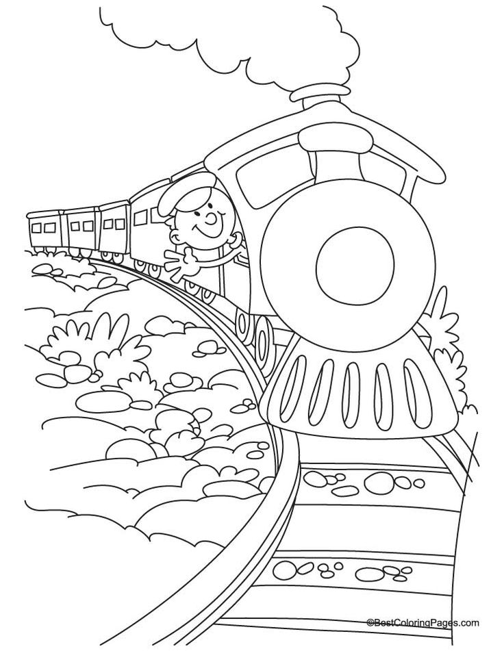 Train Coloring Page 4