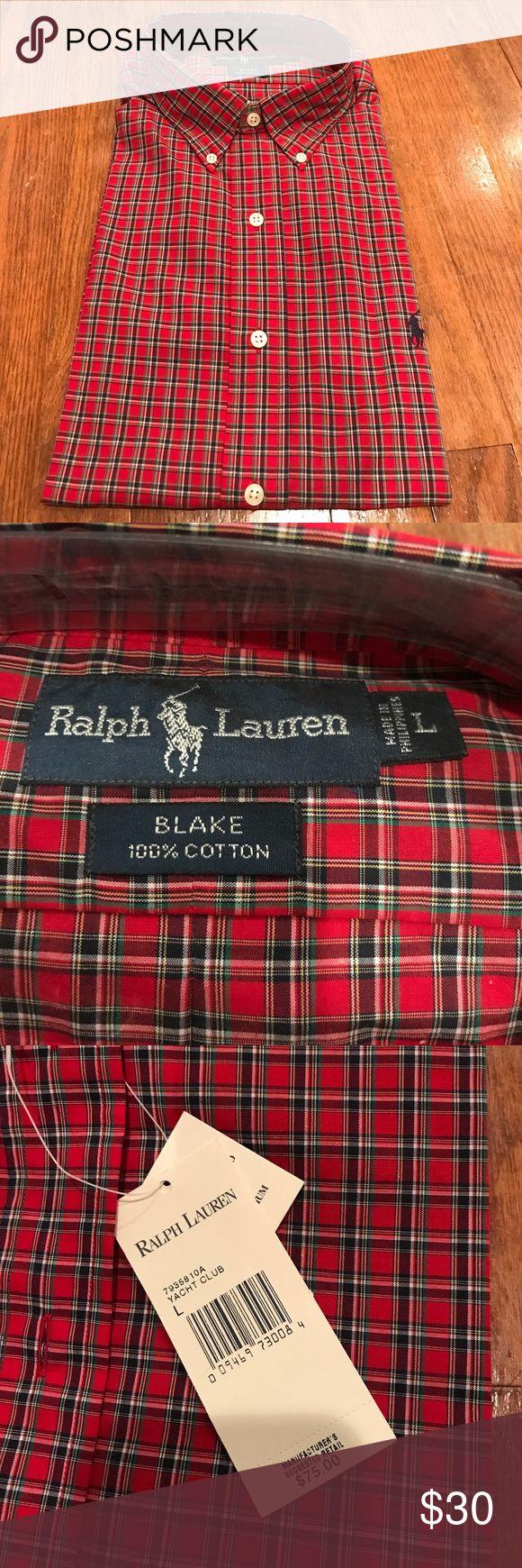 """NWT Ralph Lauren men's shirt NWT Ralph Lauren """"Blake """" men's shirt, never worn, size/ pattern as shown, great Father's Day gift! Ralph Lauren Shirts"""
